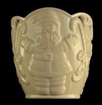LENOX Votive Candle Holder Santa Lg Merry Lights Fine Ivory Porcelain Bo... - $9.79
