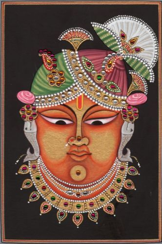 Shrinathji Krishna Hindu Painting Handmade Sreenath Spiritual Srinath Painting