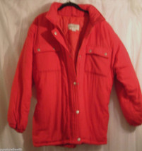 GREATLAND GREAT LAND RED THICK WOMANS ZIPPERED SNAPS WATER RESISTANT JAC... - $11.99