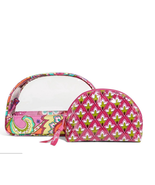 Vera Bradley Clear Cosmetic Duo in Pink Swirls  - $26.99