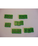 17 Green Plastic Letters French Spellmaster Pieces For Crafts - $4.95