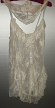 Lingerie -  White Lace Chemise by Escante Size 1X - $30.00