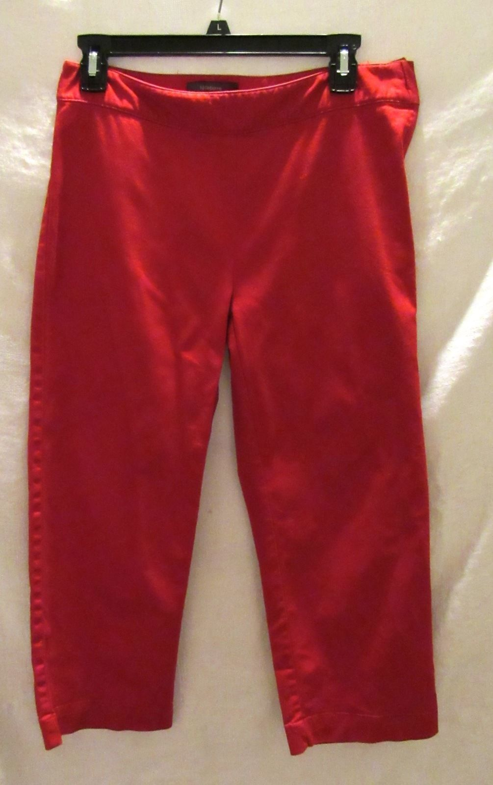 Liz Claiborne Red Audra Capri/Cropped Cotton/Spandex Pants Inseam 22 Size: 4