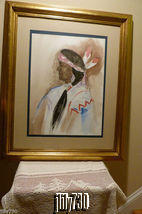 Native American Man Large Watercolor Painting by Anna Sandhu Ray