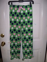 JUSTICE Polka Dot Green PJ Bottoms Size 12 Girl's EUC - $17.80