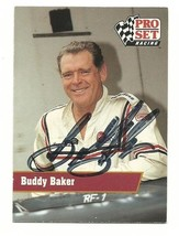 1991 BUDDY BAKER PRO SET RACING TRADING CARD #111 AUTOGRAPHED - $9.99