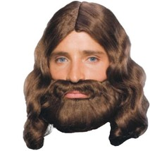 Wig - Adult - Biblical - Brown Adult Mens Jesus Beard & Wig Costume Acce... - $25.10