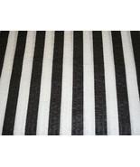 Black and White Stripe Seersucker Fabric - $10.00
