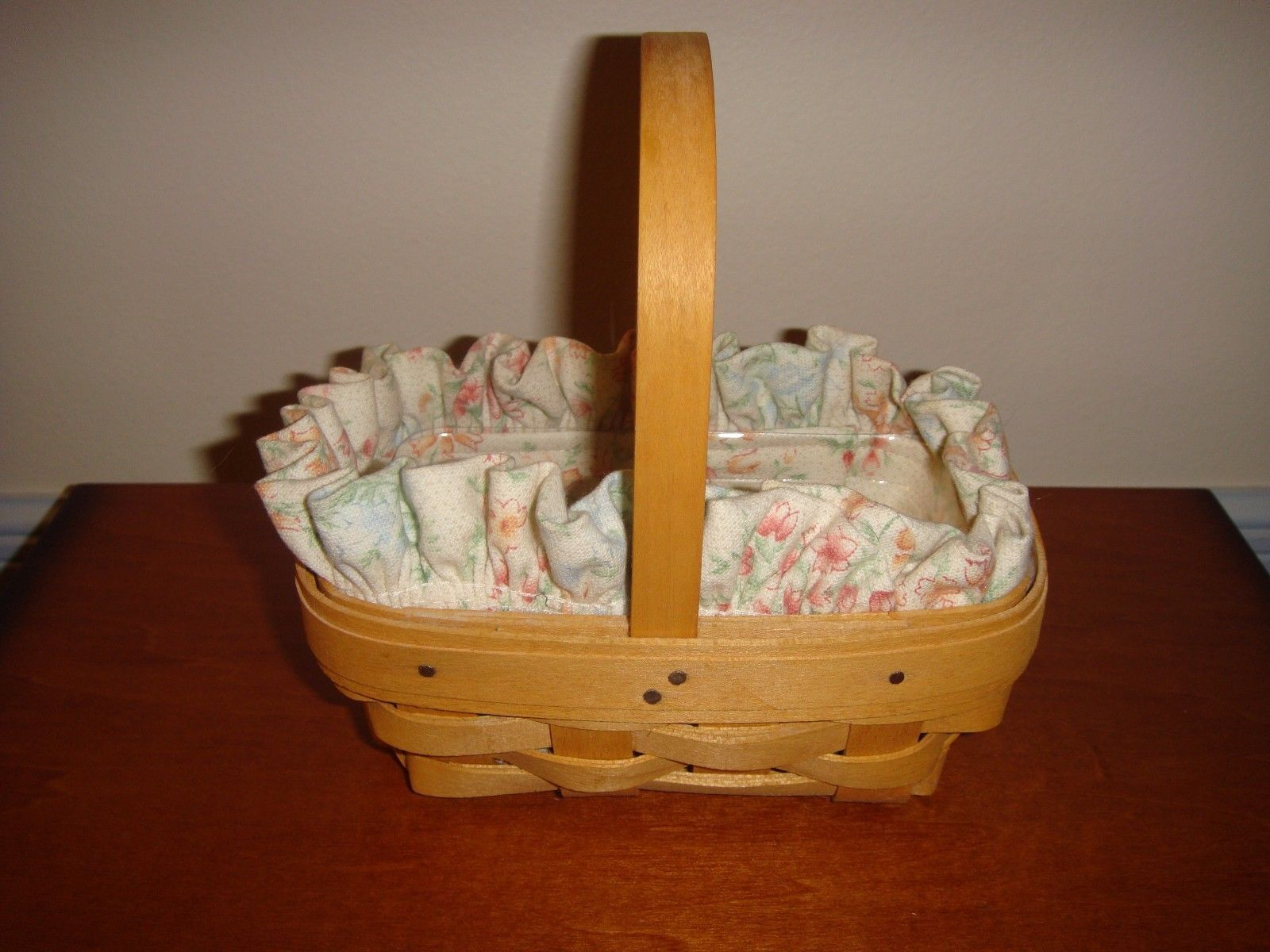 Primary image for Longaberger Parsley Booking Basket With Liner & Protector