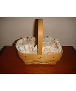 Longaberger Parsley Booking Basket With Liner & Protector - $22.49