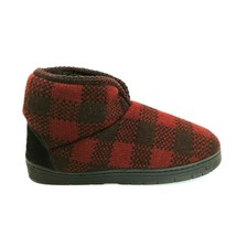Mukluks Mens Slip On Slipper Red Plaid Faux Fur Lined Cushioned Sz S (8/9)  - $29.69