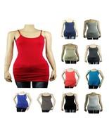 Plus Basic Long SPAGHETTI Strap Cami Tank Top Tunic Layer Bodycon Cotton... - $5.99