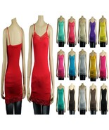 S-3X 18Col Lace Trim SPAGHETTI TANK TOP Adjust Strap Long Layer Cami Tun... - $7.99+