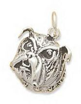 Sterling Silver Bulldog Face Charm - $26.95