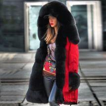 Women Winter Warm Thick Fur Long Sleeve Hoodie Over Coat image 1