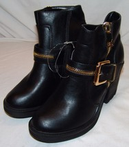 Soda Womens Ankle Boots 8 Black New NWOT - $23.01
