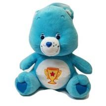 "Care Bears Champ Bear Plush Blue Champion Trophy 2004 Stuffed Animal 11"" - $10.19"