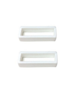 18mm 20mm 22mm 24mm 26mm 28mm White Rubber Watch Band Loop - 2 Pieces - $7.50