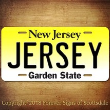 Jersey City New Jersey City State College Aluminum Vanity License Plate - $12.82