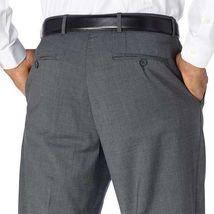 NWT Kirkland Signature Men's Wool Flat Front Dress Pants Slacks GRAY image 4
