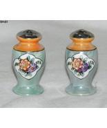 """Ceramic 2 ½"""" Blue Gray Flowered Urn Salt Pepper Shakers - $10.99"""