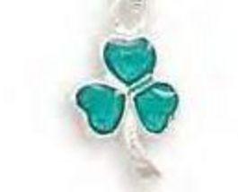 Green Epoxy Shamrock Pendant - $14.95