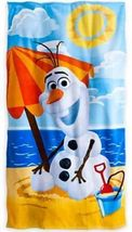 "Disney Frozen Snowman Olaf Plush Terry Cloth Beach/Pool Towel 30""x 60"" New - $14.95"