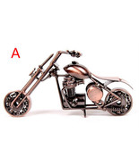 New Handcrafted Metal Art Motorcycle Chopper Home Decor Vintage Collectible - $16.99