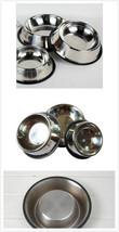 "1 Pack Stainless Steel Dog Pet  Food Water Bowl 5.3"" Diameter Anti-Slipp... - $6.99"