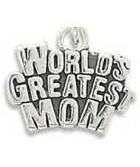 Stamped Genuine .925 Sterling Silver World's Greatest Mom Charm - $24.95