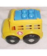 MEGA BLOKS BUS YELLOW GREY & BLUE NEW NO BOX - $9.99