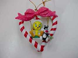 1996 Warner Brothers Baby Tweety and Sylvester Christmas Ornament - $4.99