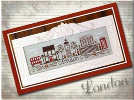 Afternoon In London cross stitch chart Country Cottage Needleworks - $7.20