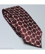 "Luxurious Countess Mara Hand Made 100% Silk Neck Tie 56"" x 4"" White Red ... - $31.18"
