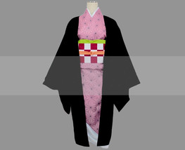 Customize Kimetsu no Yaiba Nezuko Kamado Cosplay Costume Outfit Buy - $142.00