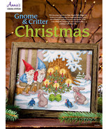 Gnome & Critter Christmas cross stitch chart Annie's Publications - $8.00