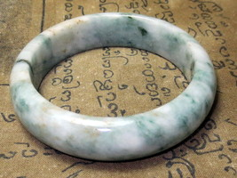 Very Rare! Magic Big Green Jade Bracelet Top Charm Power Thai Buddha Amulets - $9.99