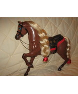 Mattel horse,brown plastic - $18.00