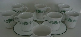 Corelle IVY Cups and Saucers CALLAWAY 14 pc 6 Sets plus 2 Cups - $23.36