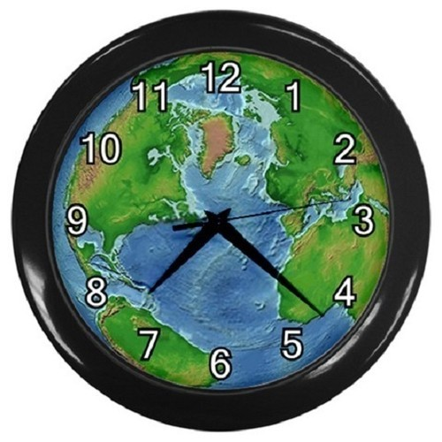 Earth Decorative Wall Clock (Black) Gift model 18044355
