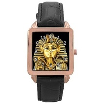 Ladies Rose Gold Leather Watch King Tutankhamun Gift model 37761284 - $19.99