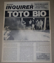 Toto National Inquirer Promo Flyer Vintage 1979 Hydra - $24.99