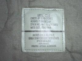 US Army jacket, cold weather, high temp, CVC & aviation crew; Lg Long 2003 NICE! - $75.00
