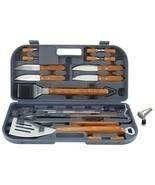 Mr. Bar-B-Q 20 Piece Grill Tool Set with Case and Bonus Light - £23.56 GBP