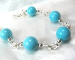 Round turquoise sterling silver chain bracelet cc62d1f6 1  thumb155 crop