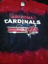ARIZONA CARDINALS  'HORIZONTAL STENCIL'  Tie Dye  T-Shirt NEW NFL RED - $25.99