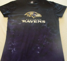 Baltimore Ravens Womens Juniors  Petite Tie Dye  T Shirt Nfl Licensed Awesome - $25.99