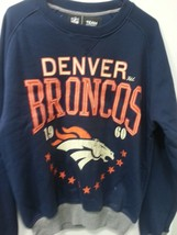 Brand NEW DENVER BRONCOS Crew Neck Crewneck 'BIG TIME' sweatshirt BLUE A... - $64.95
