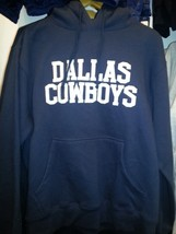 DALLAS COWBOYS REVERSE HOODIE SWEATSHIRT BLUE Officially Licensed NFL-S,... - $49.99