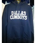 DALLAS COWBOYS REVERSE HOODIE SWEATSHIRT BLUE Officially Licensed NFL-S,... - $49.99